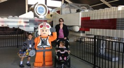 X-wing arrives at Legoland