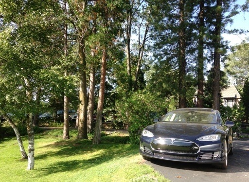 Tesla Model S at Lake Arrowhead