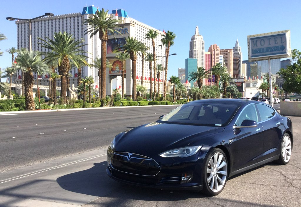 Blue Model S Las Vegas