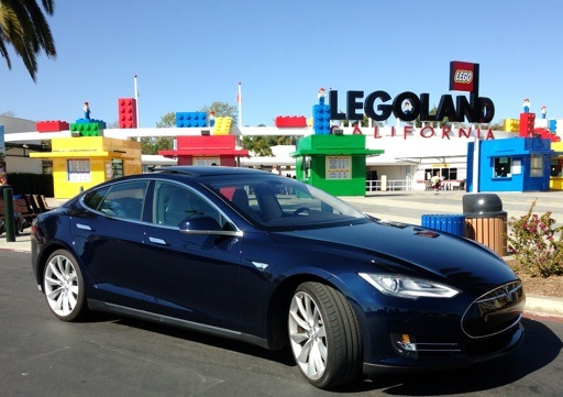 Tesla Model S at Legoland