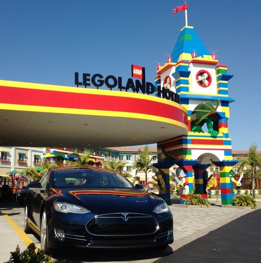 Tesla Model S at Legoland Hotel