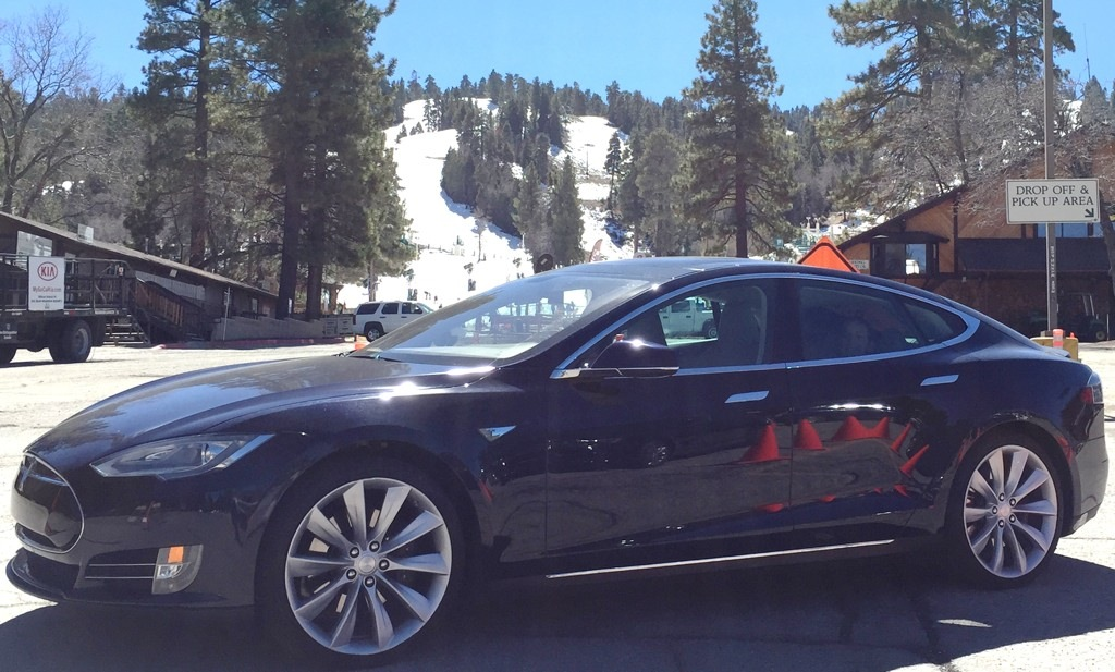 Tesla Model S at Snow Summit