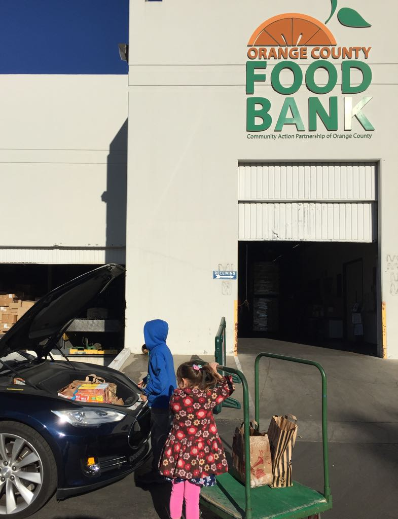 OC Food Bank frunk food